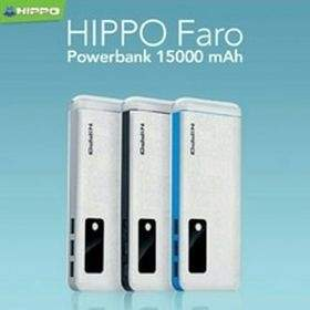 hippo powerbank bronz x 12500mah grey - garansi resmi 1 tahun