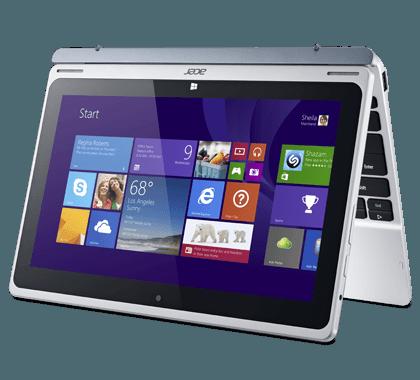 Acer Aspire Switch 10, Desain Snap Hinge Ubah Laptop Jadi Tablet.