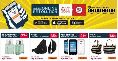 Asus Zenfone 4 Cuma Rp949ribu di Lazada 11.11 Online Revolution