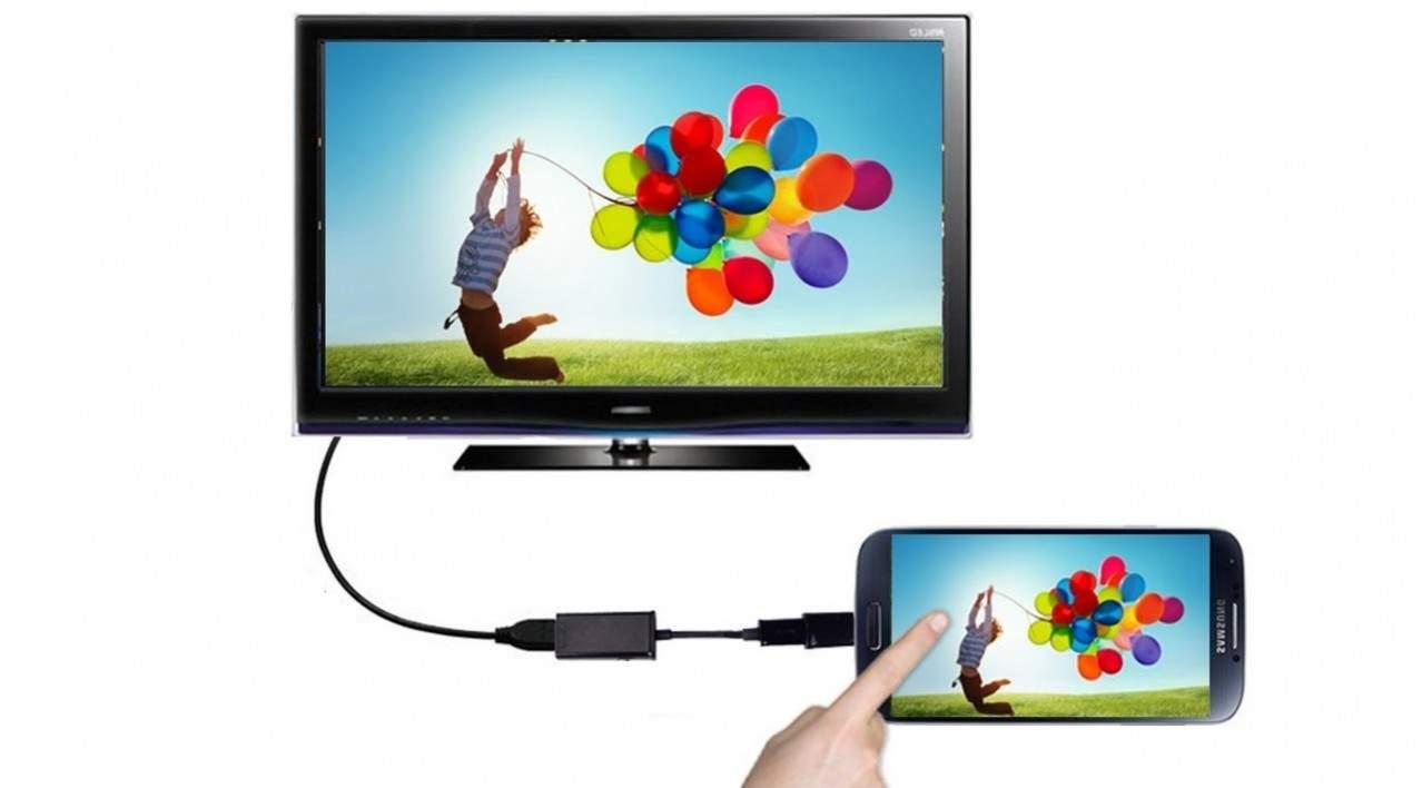 Menghubungkan hp ke tv
