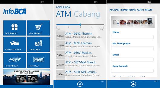 Aplikasi Info BCA Tersedia di Smartphone Lumia