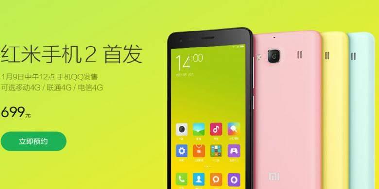 Xiaomi Redmi 2, Si Murah dengan Konektivitas 4G