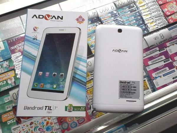 Advan Vandroid T1L, Tablet Quad Core Sejutaan