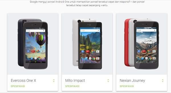Ini Daftar Harga dan Tempat Pemesanan Smartphone Android One