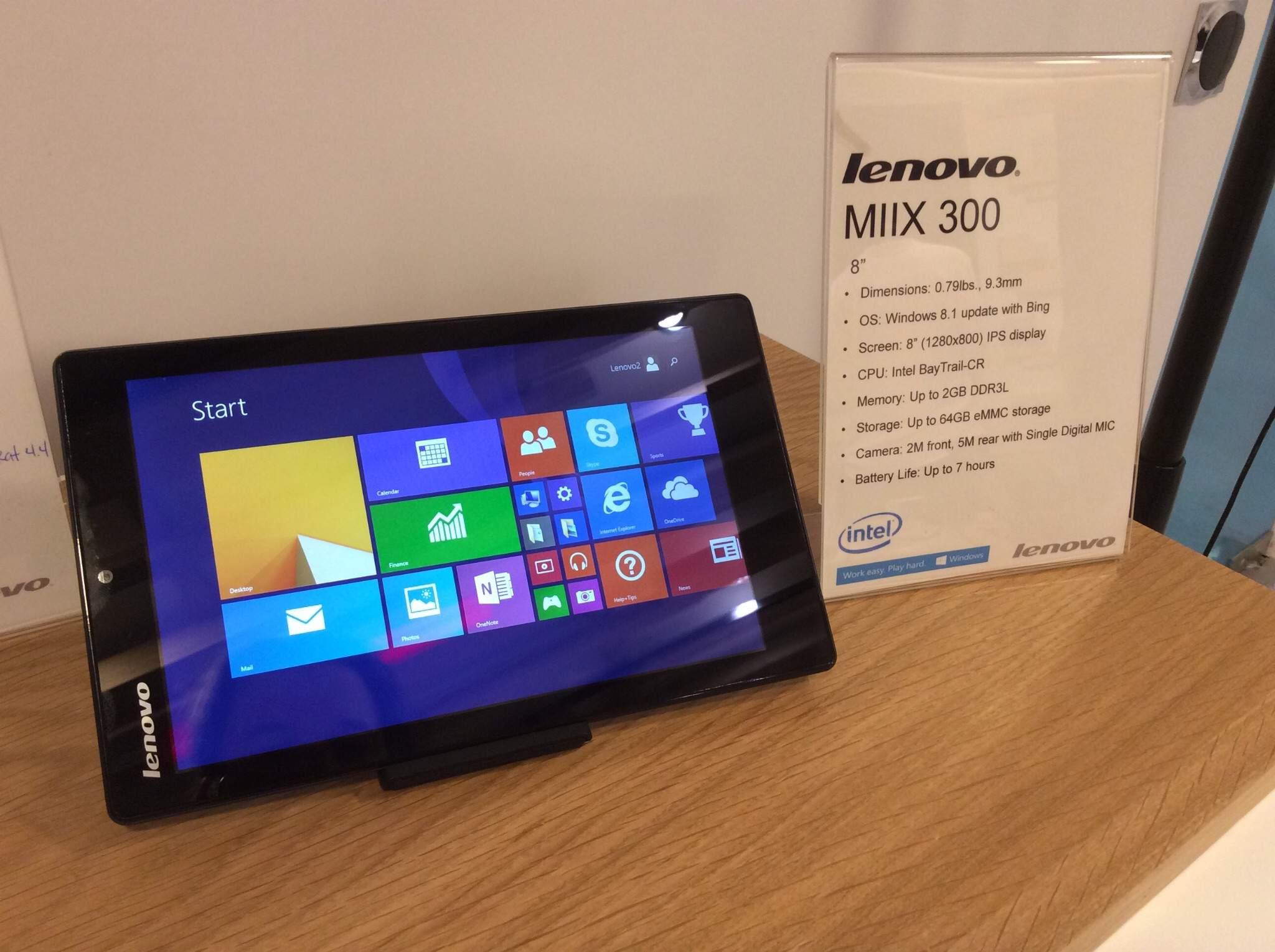 Lenovo IdeaPad MIIX 300,Tablet Intel Atom Berlayar Besar