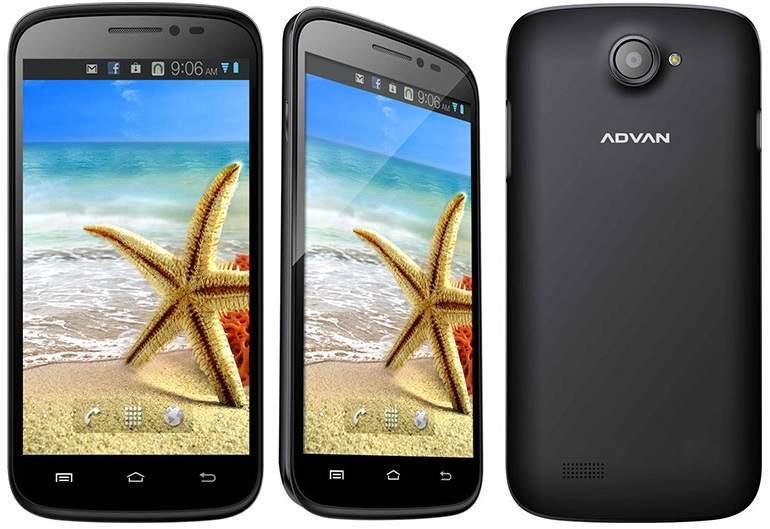 Harga Advan Vandroid S5J+: Spesifikasi Quad Core dan RAM 1GB
