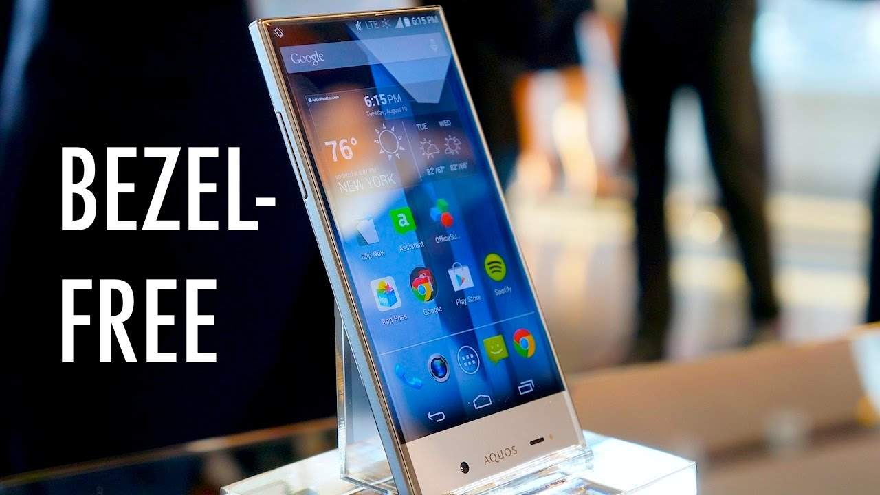Sharp Aquos Crytal, Smartphone Frameless dengan Kamera Depan di Bawah Layar