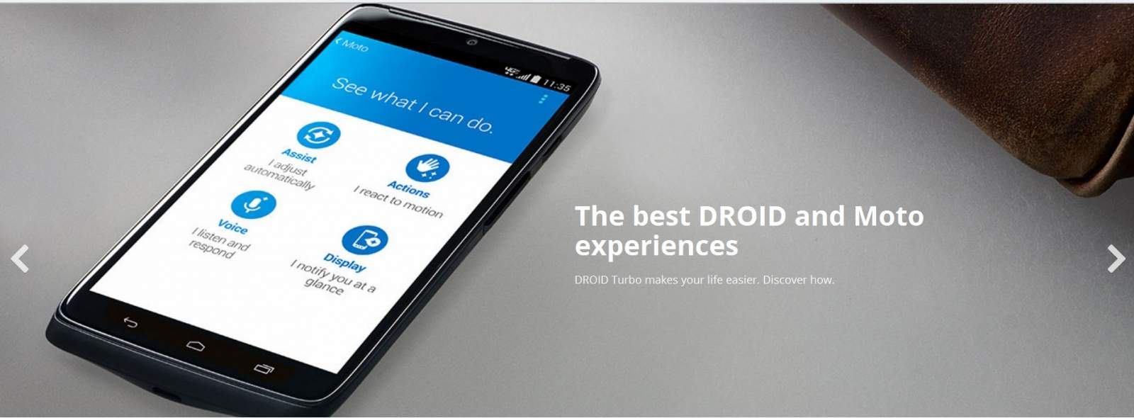 Test Drive Motorola DROID Turbo Lollipop di Website