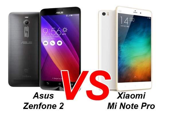 Smartphone RAM 4 GB, Pilih Asus Zenfone 2 atau Xiaomi Mi Note Pro?