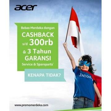 Promo Notebook Acer dengan Prosesor Intel