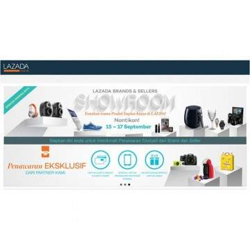 Diskon Menarik di Kampaye 'Lazada Brands and Sellers Showroom'