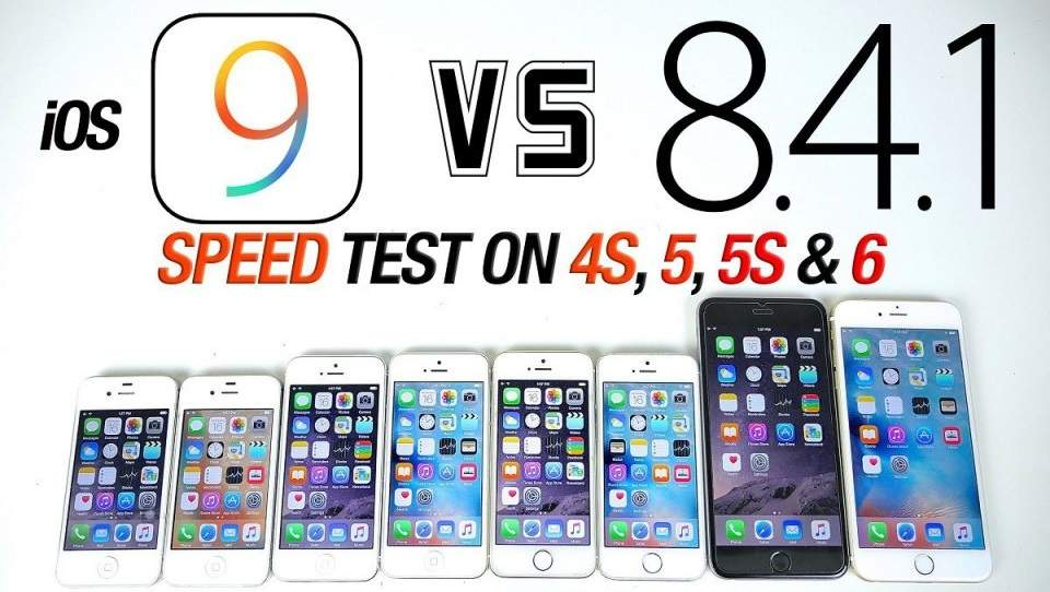 Speed Test iOS 8.4.1 Versus iOS 9 di iPhone 6, 5s, 5 dan 4s