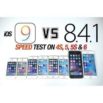 Speed Test iOS 8.4.1 Versus iOS 9 di iPhone 6, 5s, 5 dan 4s