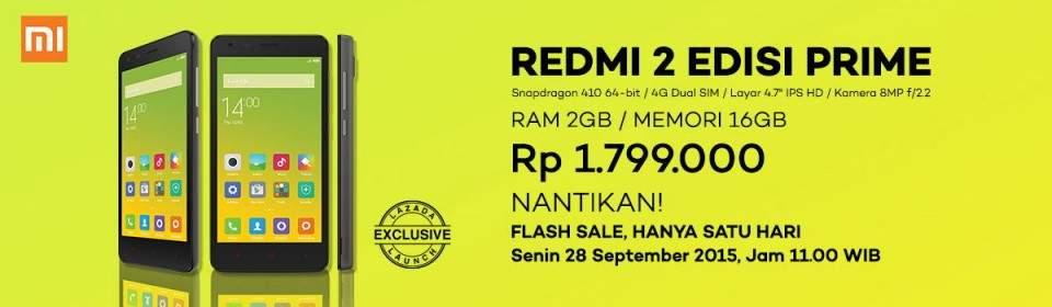 Lazada Jual Xiaomi Redmi 2 Prime di Indonesia Harga Rp 1,8 Juta