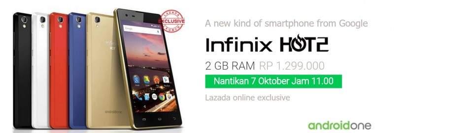 Flash Sale Infinix Hot 2 di Lazada Rp 1,2 Jutaan Saja