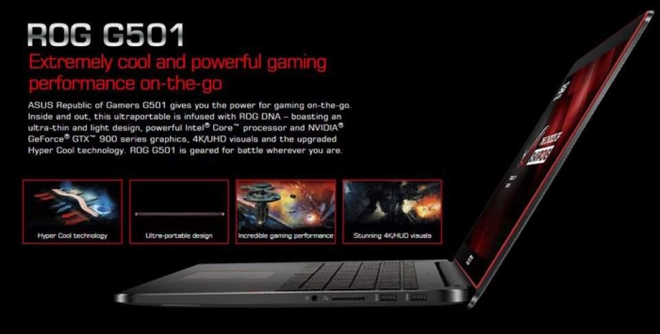 Asus ROG G501JW, Laptop Gaming Tipis Harga Mulai Rp 18 Jutaan