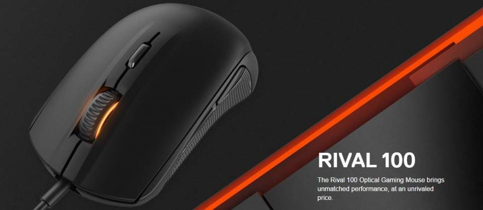 SteelSeries Rival 100, Mouse Gaming Sensor PixArt