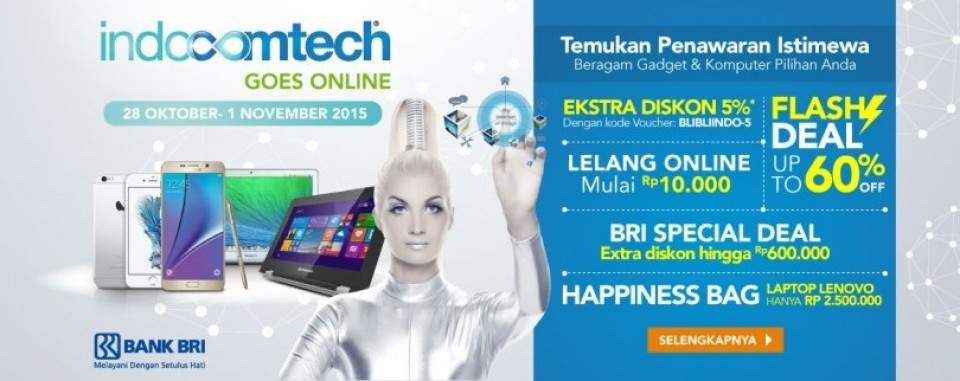 Nongkrongin Promo Indocomtech 2015 Lewat Online Aja di Blibli.com