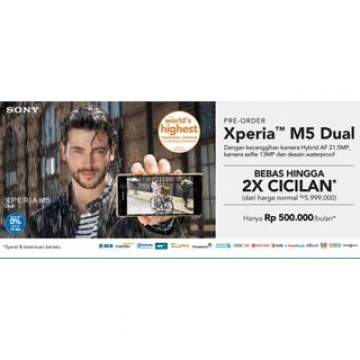 Pre Order Sony Xperia M5 Dual SIM di Blibli.com Harga Rp 5,499.000