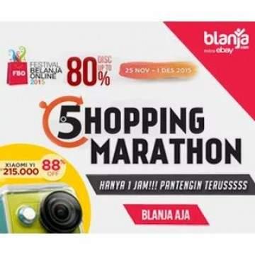 Xiaomi Yi di Banderol Rp 215 ribu di Shoping Marathon Blanja.com