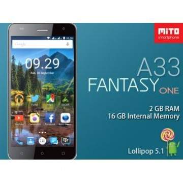 Mito A33 Fantasy One, Android 5 Inci dengan RAM 2 GB