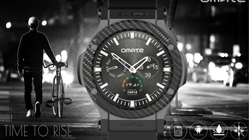 Omate Rise, Smartwatch Android Lollipop Murah