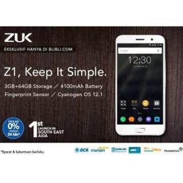 Lenovo Zuk Z1 Resmi Dipasarkan di Indonesia Melalui Blibli.com