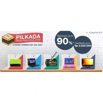 Ramaikan Pilkada 2015, Bhinneka Promo Laptop Mulai Rp 4 Jutaan, RAM 2-4GB