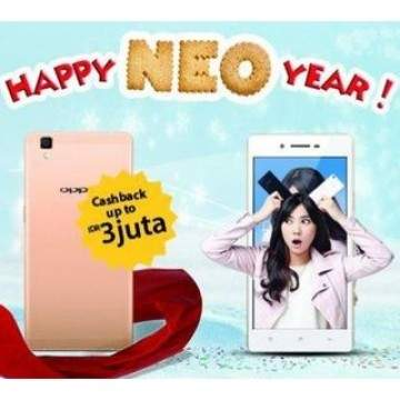 "Promo OPPO ""Happy Neo Year"" CashBack Hingga Rp 3 Jutaan"