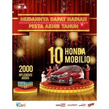 Pesta Akhir Tahun Telkomsel 2015 Berhadiah 10 Honda Mobilio
