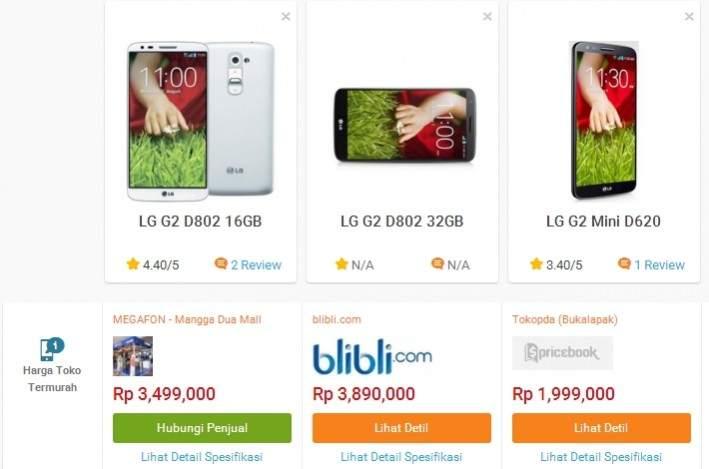 Harga LG G2 Pricebook.co.id