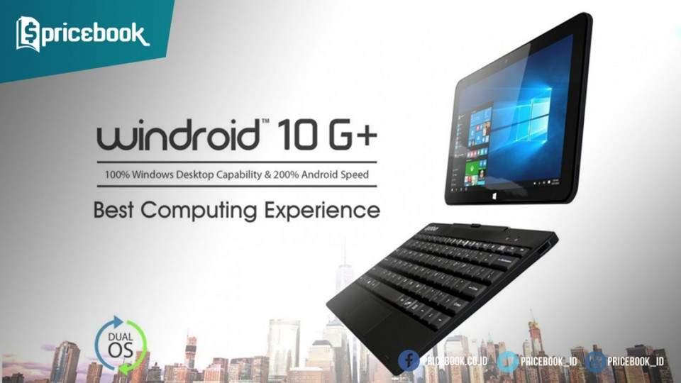 Axioo Windroid 10G+, Tablet Android + Windows 10 dengan Layar 10.1 Inci