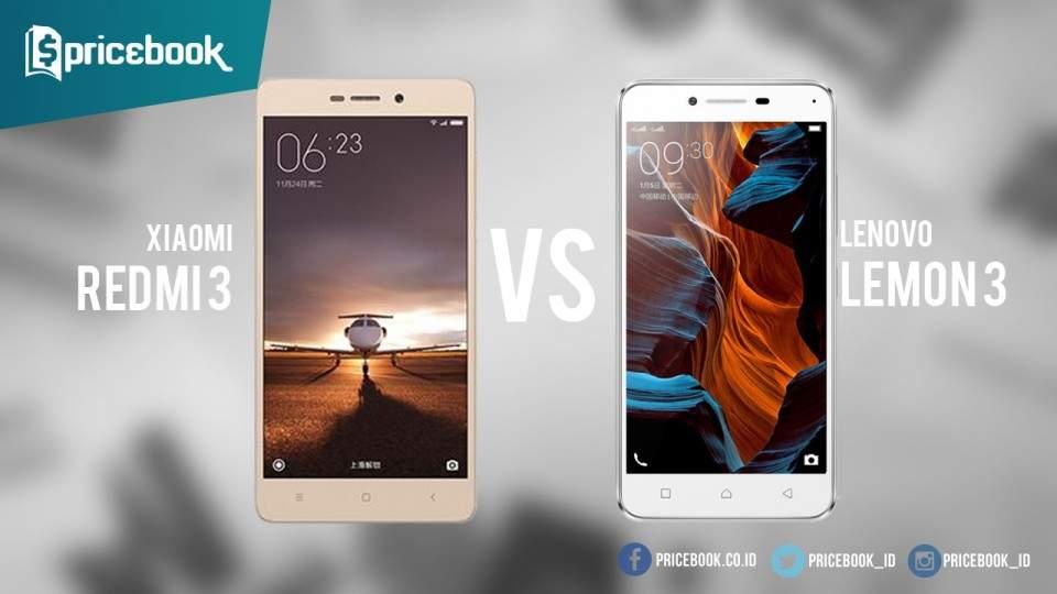 Adu Ponsel Baru 2016, Xiaomi Redmi 3 vs Lenovo Lemon 3