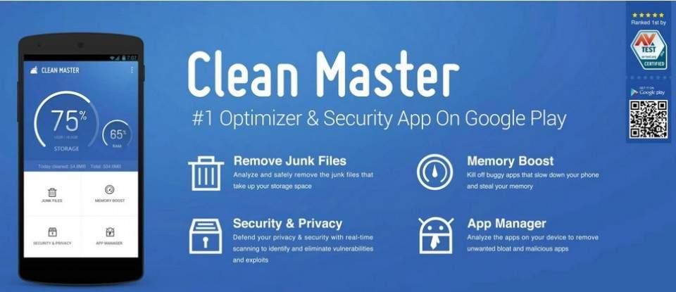 Clean Master Menjadi Aplikasi yang Paling Sering Digunakan Akhir 2015