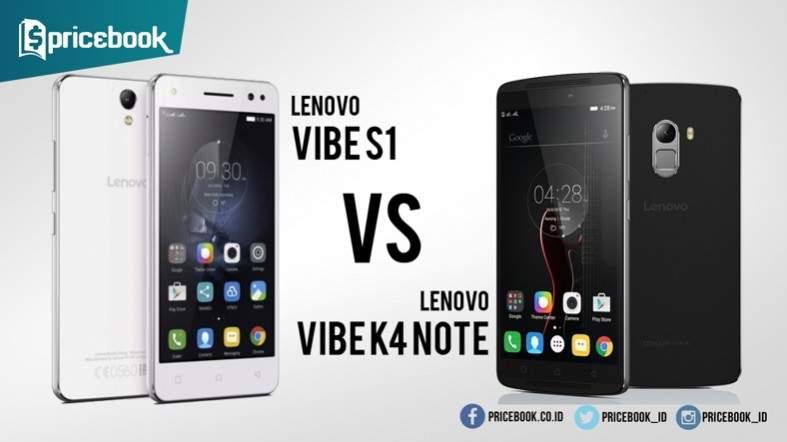 Lenovo Vibe S1 vs Lenovo K4 Note