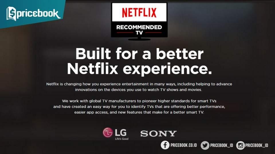 Smart TV LG dan Sony Direkomendasikan Netflix