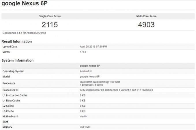 Nexus 6P terbaru