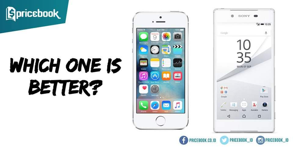 iPhone SE vs Sony Xperia Z5 Compact, Duel Handphone Mini Terbaik