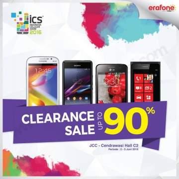 Daftar Handphone Clearance Sale Erafone di ICS 2016