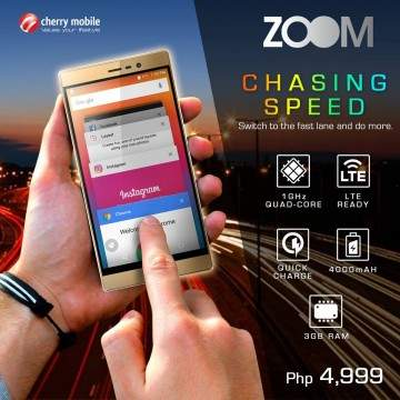 Cherry Mobile Zoom, Ponsel Android Murah Sejutaan Kamera 13 MP dan RAM 3 GB