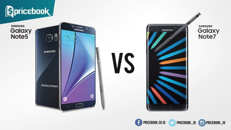 Perbedaan Samsung Galaxy Note 5 dan Samsung Galaxy Note 7