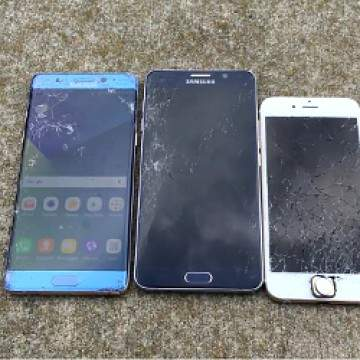 Drop Test Note 7 vs  Note 5 vs iPhone 6S, Manakah yang Masih Berfungsi?