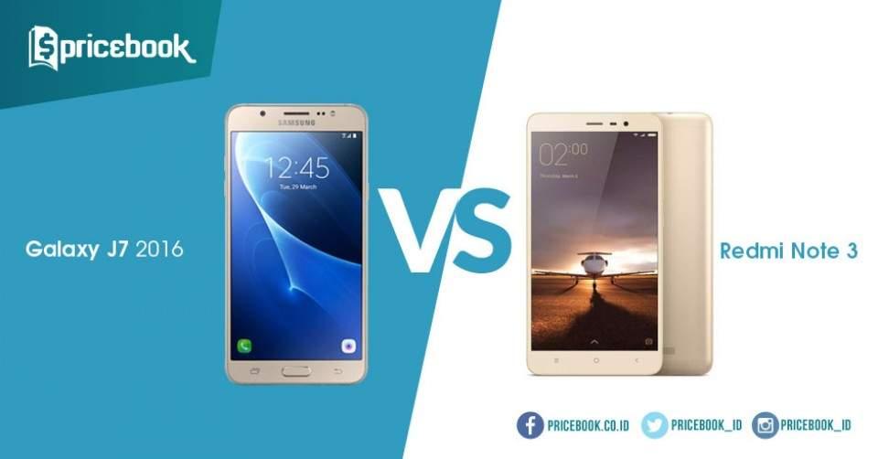 Perbandingan Phablet Android, Samsung Galaxy J7 2016 vs Xiaomi Redmi Note 3