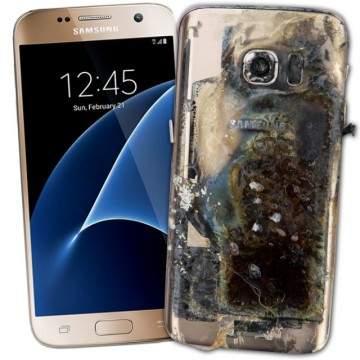 Lagi, Ponsel Samsung Meledak, Samsung Galaxy S7 dan S7 Edge