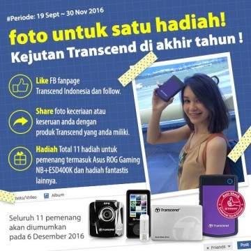 Transcend Adakan Program Undian dengan Hadiah Notebook ASUS ROG, ZenFone dan GoPro