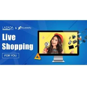 CliponYu dan Lazada Adakan Live Shopping Berikan Diskon 20%
