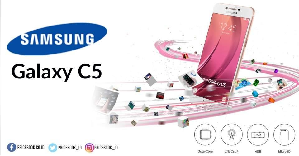 Samsung Galaxy C5 Mulai Dipasarkan di Indonesia Harga Rp4,7 Juta