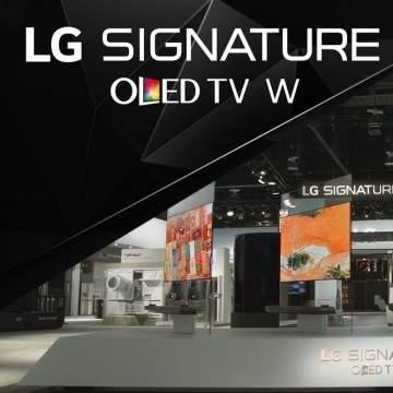 CES 2017, LG Signature OLED TV W Usung Inovasi Desain dan Teknologi