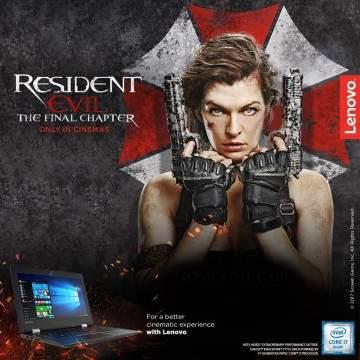 """Jajaran Gaming Lenovo yang Bekerjasama dengan Film """"Resident Evil: The Final Chapter"""""""