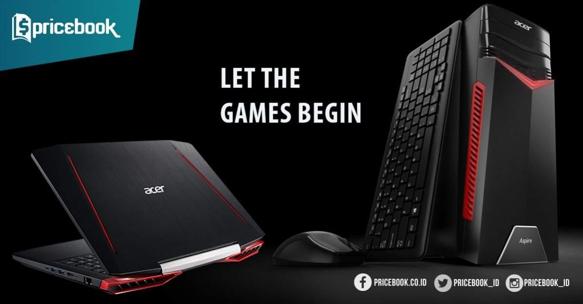 Laptop Gaming Acer Aspire VX 15 Dan Aspire GX Telah Hadir